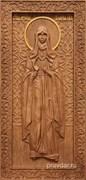 Иулиания Лазоревская, резная икона на дубовой цельноламельной доске (ростовая)