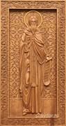 Дионисий Святой, резная икона на дубовой цельноламельной доске (ростовая)