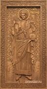 Гавриил Архангел, резная икона на дубовой цельноламельной доске (ростовая)