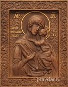 Толгская Божия Матерь, резная икона на дубовой цельноламельной доске
