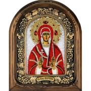 Марина святая мученица, дивеевская икона из бисера