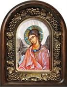 Ангел Хранитель на перламутре, дивеевская икона из бисера