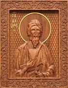 Андрей Первозванный, резная икона на дубовой цельноламельной доске
