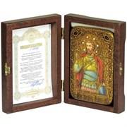 Святой мученик Виктор Дамасский икона ручной работы под старину
