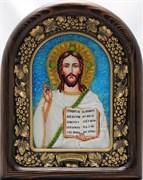 Господь Вседержитель, дивеевская икона из бисера ручной работы