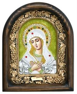 Умиление образ Божией Матери, дивеевская икона из бисера ручной работы - фото 4818