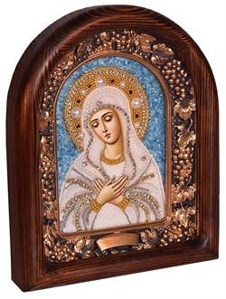Умиление образ Божией Матери, дивеевская икона из бисера ручной работы - фото 4872