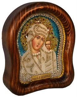 Казанская Божья Матерь, дивеевская икона из бисера ручной работы - фото 4882