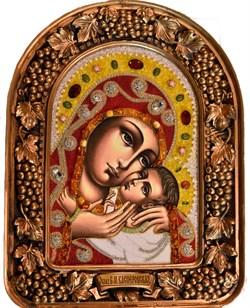 Касперовская Божья Матерь, дивеевская икона из бисера ручной работы - фото 4890