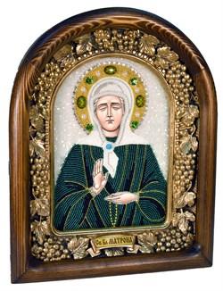 Матрона Московская, дивеевская икона из бисера - фото 4922