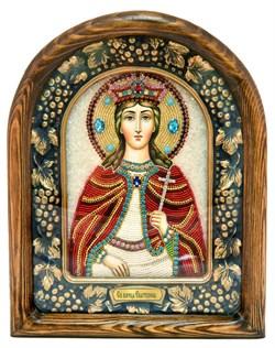 Екатерина Святая Великомученица, дивеевская икона из бисера - фото 4943