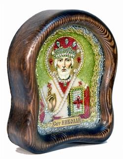 Николай Чудотворец, дивеевская икона из бисера ручной работы - фото 4968