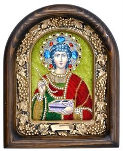 Пантелеймон Святой Великомученик, дивеевская икона из бисера ручной работы - фото 4994