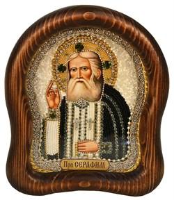 Серафим Саровский Преподобный, дивеевская икона из бисера ручной работы - фото 5006