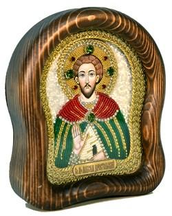 Максим Доростольский, дивеевская икона из бисера ручной работы - фото 5014