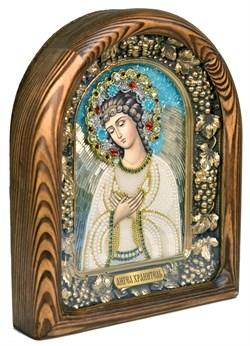 Ангел Хранитель, дивеевская икона из бисера ручной работы - фото 5026