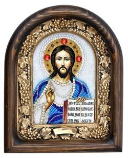 Господь Вседержитель, дивеевская икона из бисера ручной работы - фото 5036