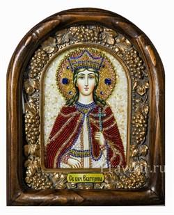 Екатерина Святая Великомученица, дивеевская икона из бисера - фото 5089