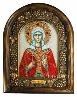 Лидия Святая мученица, дивеевская икона из бисера  - фото 5097