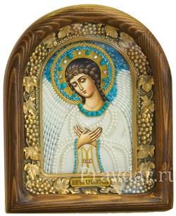 Ангел Хранитель, дивеевская икона из бисера ручной работы - фото 5128