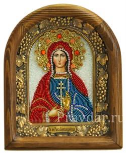 Раиса (Ираида) Александрийская, дивеевская икона из бисера - фото 5132