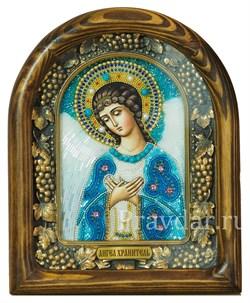 Ангел Хранитель, дивеевская икона из бисера ручной работы - фото 5143