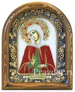 Мария Вифинская Преподобная, дивеевская икона из бисера - фото 5158