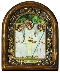 Святая Троица, дивеевская икона из бисера ручной работы - фото 5213