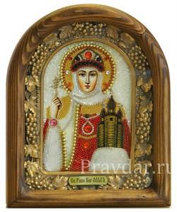 Ольга Святая Равноапостольная Княгиня, дивеевская икона из бисера - фото 5233