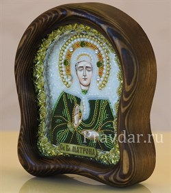 Матрона Московская, дивеевская икона из бисера - фото 5251
