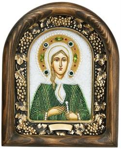 Ксения Петербургская, дивеевская икона из бисера - фото 5253