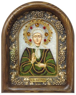 Матрона Московская, дивеевская икона из бисера - фото 5263