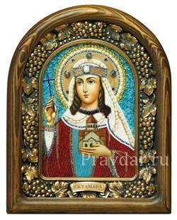 Тамара Святая царица, дивеевская икона из бисера - фото 5285