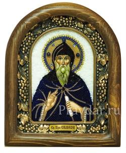 Симеон (Семен) Преподобный, дивеевская икона из бисера - фото 5310