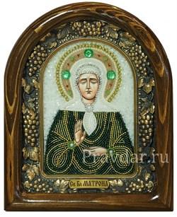 Матрона Московская, дивеевская икона из бисера - фото 5406