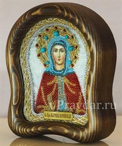 Марина Берийская преподобная, дивеевская икона из бисера - фото 5416