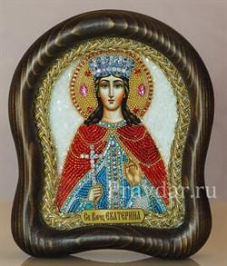 Екатерина Святая Великомученица, дивеевская икона из бисера - фото 5440