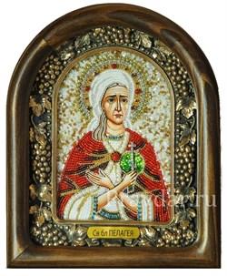 Пелагея Дивеевская Святая Блаженная, дивеевская икона из бисера - фото 5471