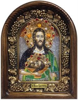 Иоанн Креститель, дивеевская икона из бисера ручной работы - фото 5534