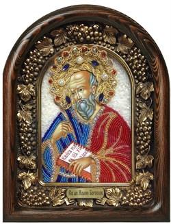 Иоанн Богослов, дивеевская икона из бисера ручной работы - фото 5535