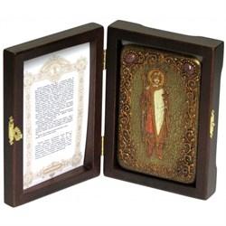Борис Святой благоверный князь икона ручной работы под старину - фото 5599
