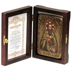 Василий Великий икона ручной работы под старину - фото 5609
