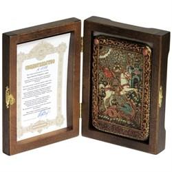 Георгий Святой, чудо о змие икона ручной работы под старину - фото 5648