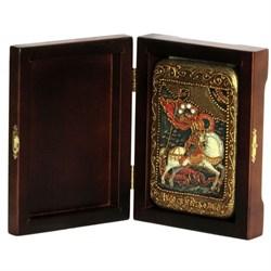 Георгий Святой, чудо о змие икона ручной работы под старину - фото 5658