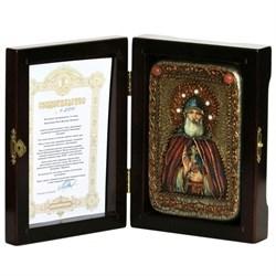 Илия Муромец Преподобный икона ручной работы под старину - фото 5713
