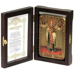 Николай Чудотворец икона ручной работы под старину - фото 5805