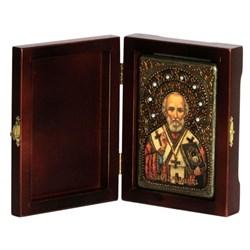 Николай Чудотворец икона ручной работы под старину - фото 5815
