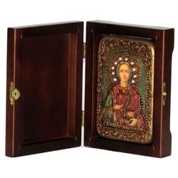 Пантелеймон Святой великомученик и целитель икона ручной работы под старину - фото 5845