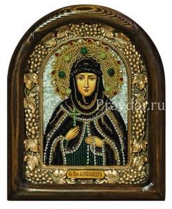 Александра Дивеевская Преподобная, дивеевская икона из бисера - фото 5896