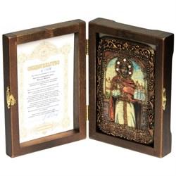 Ярослав Святой князь икона ручной работы под старину - фото 6007